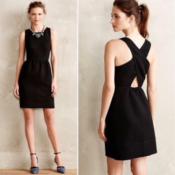 Anthropologie Dresses & Skirts - Anthropologie Maeve Rokin Cross Back Dress Black